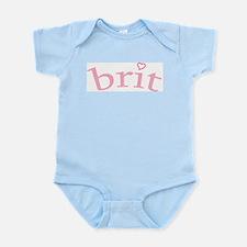 """""""Brit with Heart"""" Onesie"""