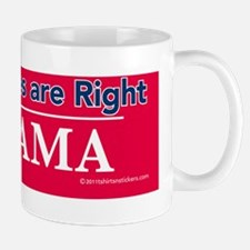 conservatives_are_right_nobama_sticker Mug