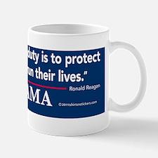governments_first_duty_nobama_sticker Mug