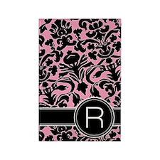 441_black_pink_R Rectangle Magnet