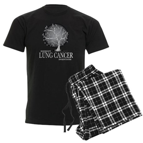 Lung-Cancer-Tree-blk Men's Dark Pajamas