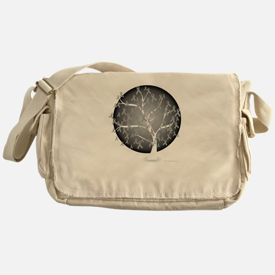 Brain-Cancer-Tree-blk Messenger Bag