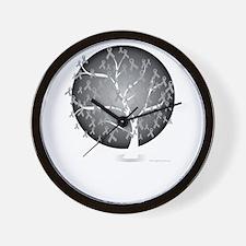 Brain-Cancer-Tree-blk Wall Clock