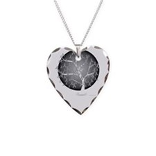 Brain-Cancer-Tree-blk Necklace Heart Charm