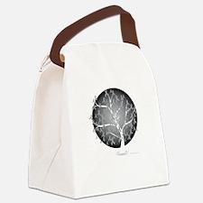 Brain-Cancer-Tree-blk Canvas Lunch Bag