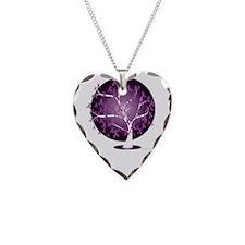 Fibromyalgia-Tree-blk Necklace