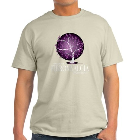 Fibromyalgia-Tree-blk Light T-Shirt