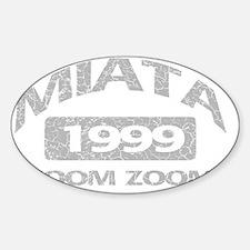 miata zoom 99 Sticker (Oval)