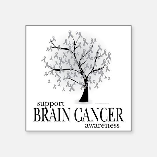 "Brain-Cancer-Tree Square Sticker 3"" x 3"""