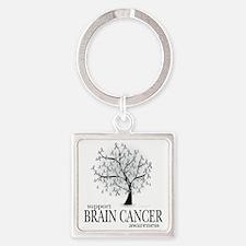 Brain-Cancer-Tree Square Keychain
