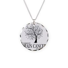Brain-Cancer-Tree Necklace Circle Charm