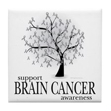 Brain-Cancer-Tree Tile Coaster