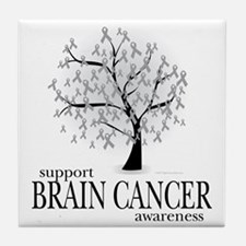 Brain-Cancer-Tree Tile Coaster