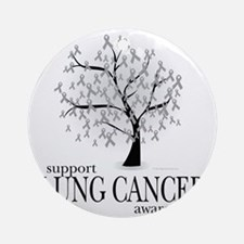 Lung-Cancer-Tree Round Ornament