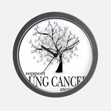 Lung-Cancer-Tree Wall Clock
