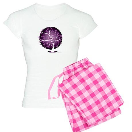 Cystic-Fibrosis-Tree-blk Women's Light Pajamas