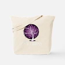 Cystic-Fibrosis-Tree-blk Tote Bag