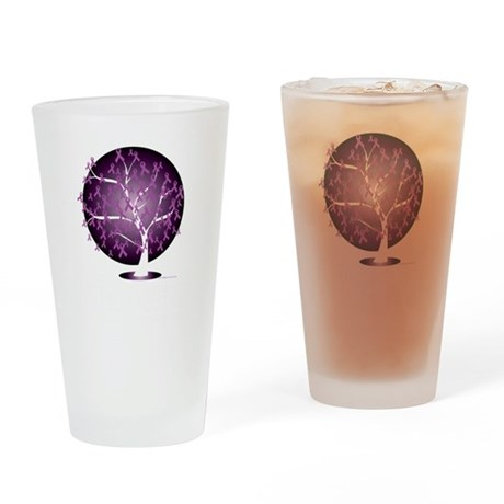 Cystic-Fibrosis-Tree-blk Drinking Glass