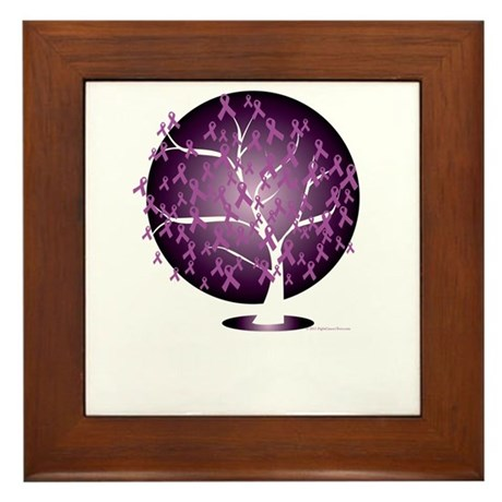 Cystic-Fibrosis-Tree-blk Framed Tile