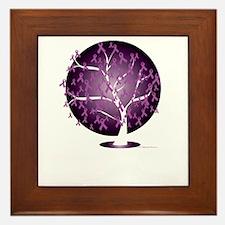 Cystic-Fibrosis-Tree-blk Framed Tile