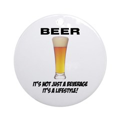 Beer Lifestyle Ornament (Round)