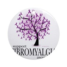 Fibromyalgia-Tree Round Ornament