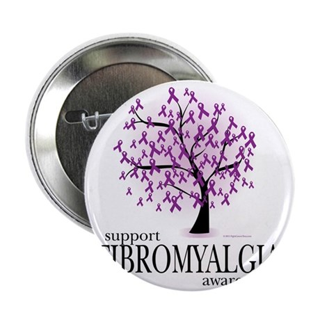 "Fibromyalgia-Tree 2.25"" Button"