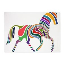 Cute Horse 5'x7'Area Rug