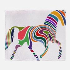 Cute Horse Throw Blanket