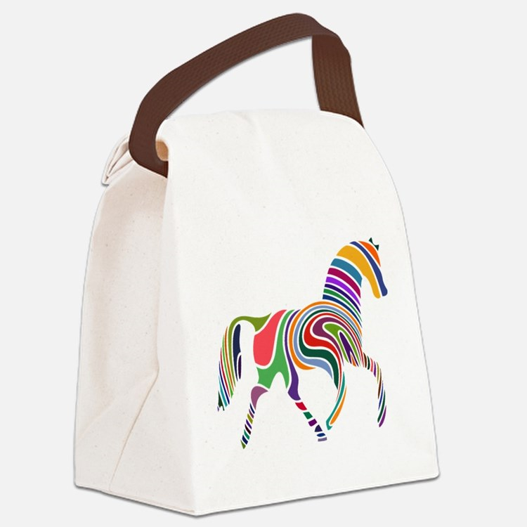 Cute Horse Canvas Lunch Bag