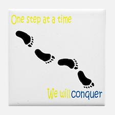 conquer cancer Tile Coaster