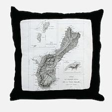 De L'Ile Gwam (Guam) Freycinet Throw Pillow