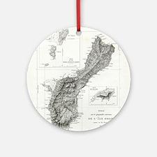 De L'Ile Gwam (Guam) Freycinet Round Ornament