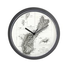 De L'Ile Gwam (Guam) Freycinet Wall Clock