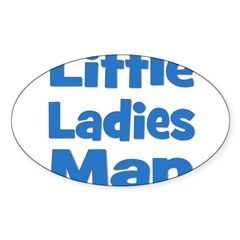 Little Ladies Man Oval Decal