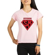 Supermom-redblack Performance Dry T-Shirt