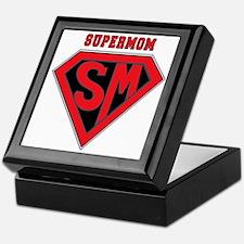 Supermom-redblack Keepsake Box