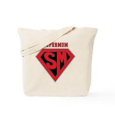 Supermom-redblack Tote Bag