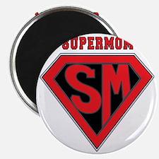 Supermom-redblack Magnet