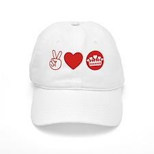 Peace Love Royal - Red 1 Baseball Cap