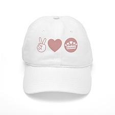 Peace Love Royal - Pink 1 Baseball Cap