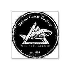 "gracie est 1999 distressed  Square Sticker 3"" x 3"""