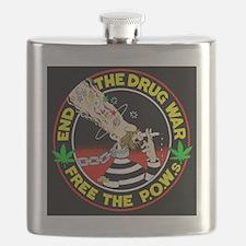 End the Drug War Flask