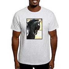 Friesian Profile Ash Grey T-Shirt