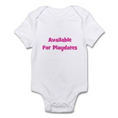 Available for Playdate (pink) Infant Bodysuit