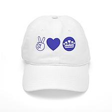 Peace Love Royal - Pruple 1 Baseball Cap