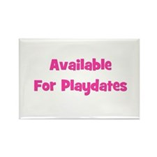 Available for Playdate (pink) Rectangle Magnet