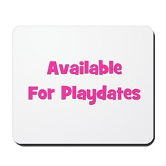 Available for Playdate (pink) Mousepad