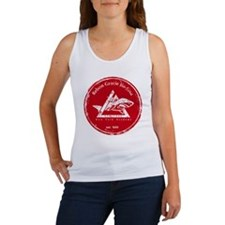 gracie logo distressed red Women's Tank Top