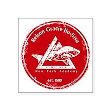 "gracie logo distressed red Square Sticker 3"" x 3"""